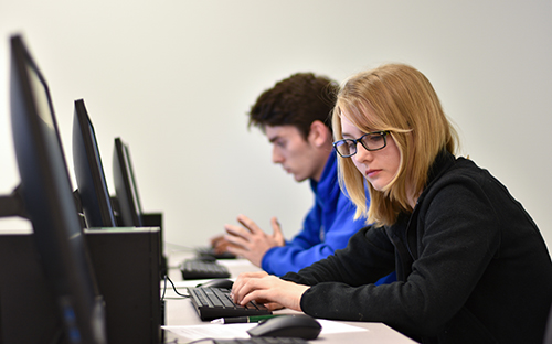 female student in computer science