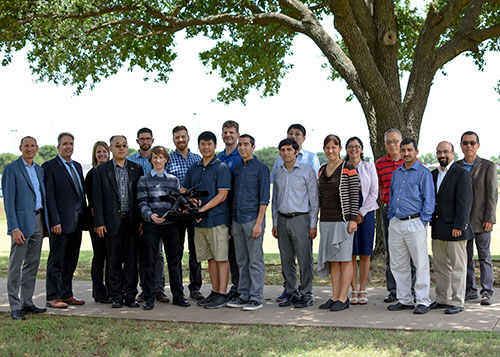 Army Research Laboratory members and UNT faculty members at Discovery Park