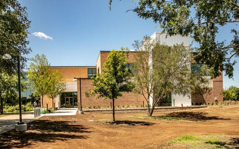 Exterior - new biiomedical engineering building from front