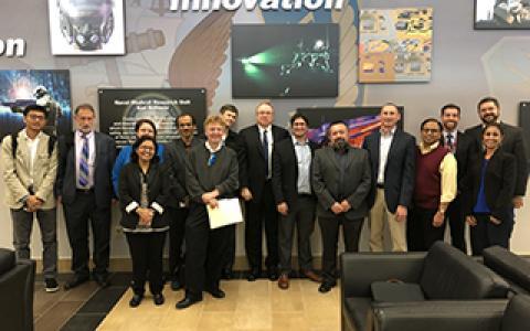 UNT College of Engineering faculty members at AFRL
