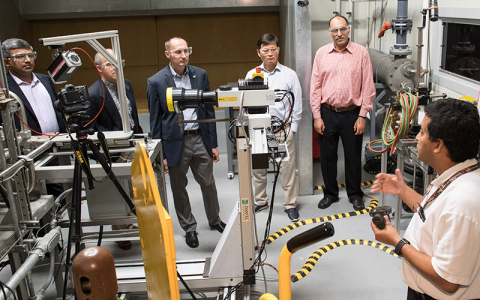Photo of Engineering faculty visit Army Research Lab