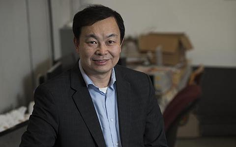 Zhang in his lab