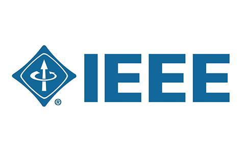 IEEE blue logo on white background