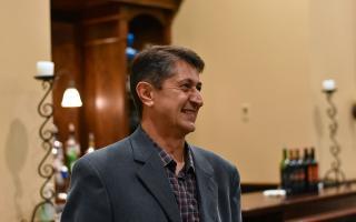 Alumnus at the Reception