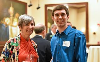 Samuel McGregor ('16 Computer Science) with Lisa